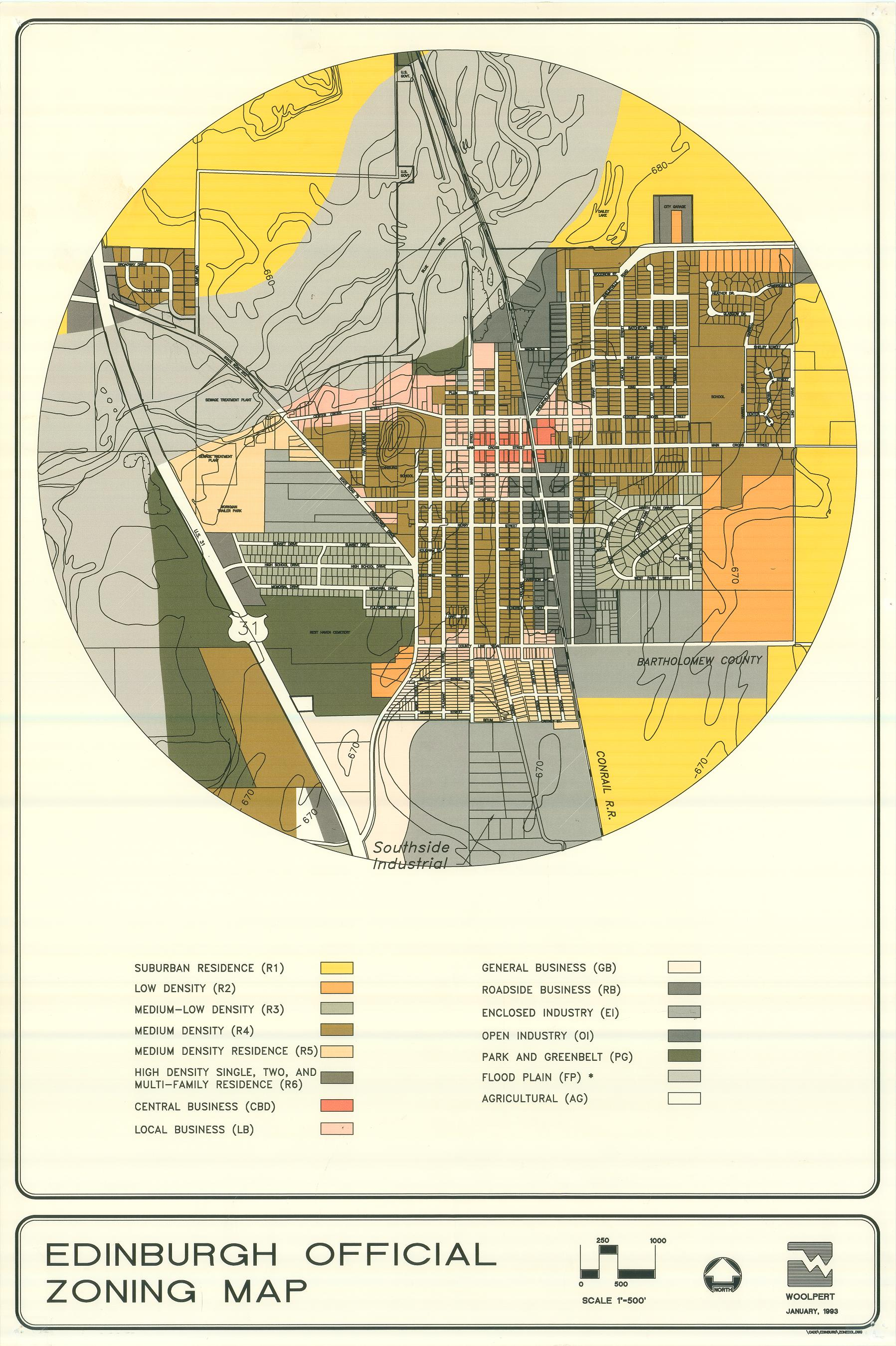 The Town Of Edinburgh Indiana Investigationscouncil 81 Ford F150 Gas Tank Diagram Saturday November 20th 2010 Docs Zoning Map
