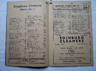 1940 Edinburgh Phone Book Page 4 & 5
