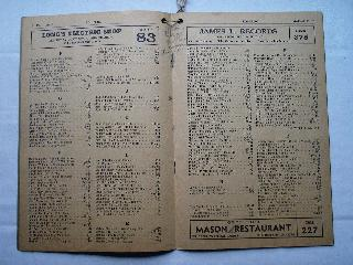 1940 Edinburgh Phone Book Page 6 & 7