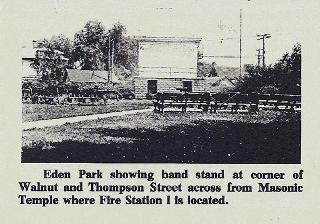 Eden Park Site of Fire Station on Walnut Street