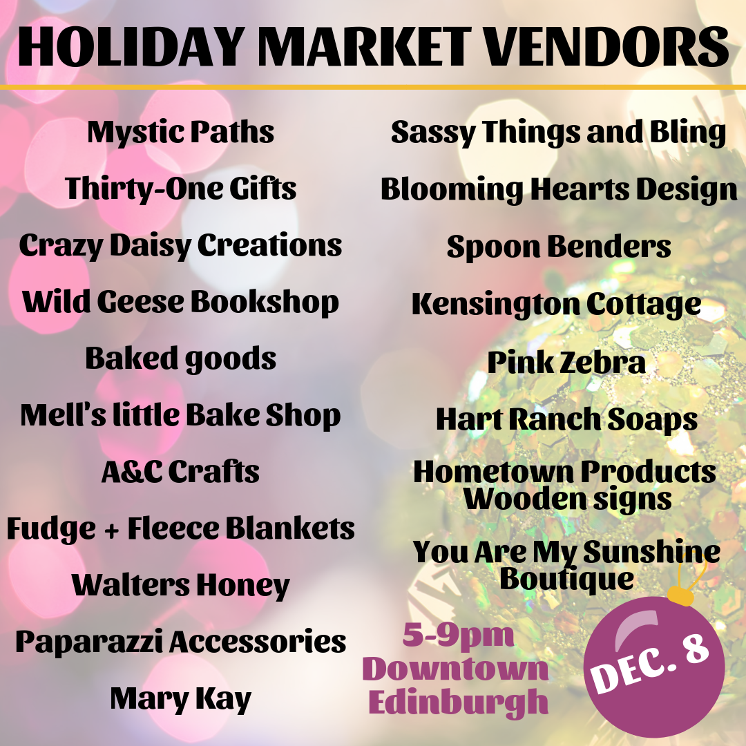Holiday Market Vendors 2018